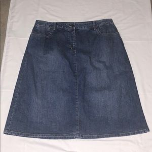 Talbots Woman Petites 18W Denim Jean Skirt